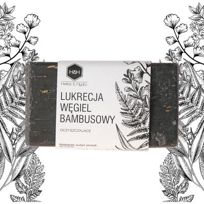 Mydło w kostce - Lukrecja i węgiel bambusowy Herbs&Hydro
