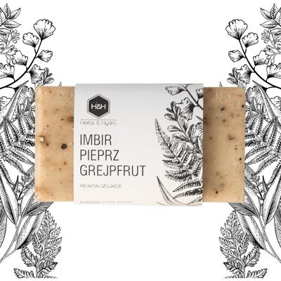 Mydło w kostce - Imbir pieprz i grejpfrut Herbs&Hydro