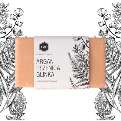 Mydło w kostce - Argan pszenica i glinka Herbs&Hydro