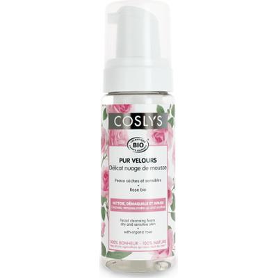 Organiczna pianka do mycia twarzy z wodą różaną Coslys