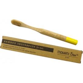 Mohani Bambusowa szczoteczka do zębów dla dzieci - żółta, włosie miękkie