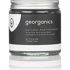 Georganics Proszek do czyszczenia zębów mineralny z węglem aktywnym, 120 ml