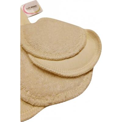 Soft Moon - Wielorazowe organiczne płatki kosmetyczne niebielone 5 szt. + woreczek do prania Produkty less waste