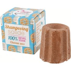 Lamazuna Szampon w kostce do włosów suchych - Pomarańcza, 55g