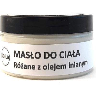 Masło do ciała - różane z olejem lnianym La-Le Kosmetyki