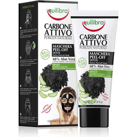Equilibra Maska do twarzy typu peel-off z aktywnym węglem, 100 ml