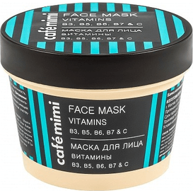 Cafe Mimi Maska do twarzy witaminy B3, B5, B6, B7 i C, 110 ml