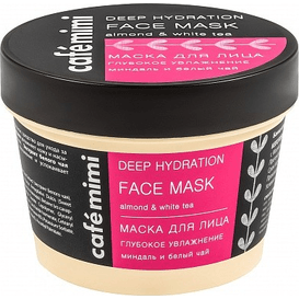 Cafe Mimi Maska do twarzy głębokie nawilżenie - migdał i biała herbata, 110 ml