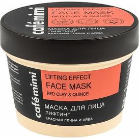 Cafe Mimi Maska do twarzy lifting - czerwona glinka i pigwa