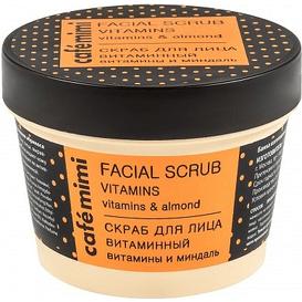 Cafe Mimi Peeling do twarzy witaminowy - witaminy i migdał, 110 ml
