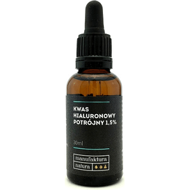 Manufaktura Natura Serum - Potrójny kwas hialuronowy 1,5%