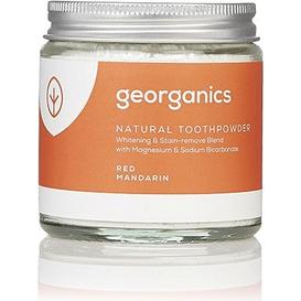 Georganics Proszek do czyszczenia zębów mineralny - Czerwone mandarynki, 120 ml