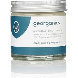 Georganics Naturalna pasta do zębów mineralna - Angielska mięta pieprzowa, 60 ml