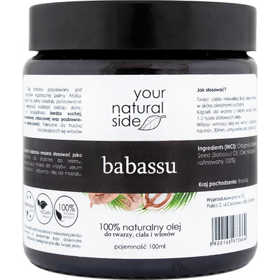 Olej babassu organiczny Your Natural Side