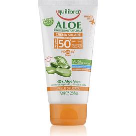 Equilibra Aloesowy krem przeciwsłoneczny SPF 50+ UVA, UVB, 75 ml