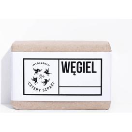 Mydlarnia Cztery Szpaki Detoksykujące mydło węglowe, 110 g