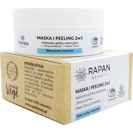 Rapan Beauty Maska i peeling 2w1 - Niebieska glinka syberyjska i smocza krew