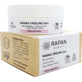 Rapan Beauty Maska i peeling 2w1 - Mix peloidów, smocza krew i wegański śluz ślimaka
