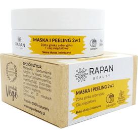 Rapan Beauty Maska i peeling 2w1 - Żółta glinka syberyjska i olej migdałowy, 80 g
