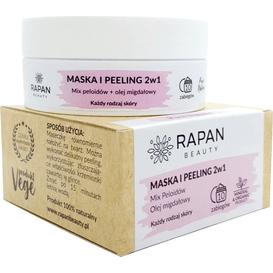 Rapan Beauty Maska i peeling 2w1 - Mix peloidów i olej migdałowy, 80 g