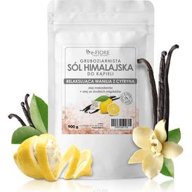 E-FIORE Sól himalajska - Relaksująca wanilia z cytryną, 900 g
