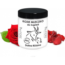 E-FIORE Kozie mleko do kąpieli - Dolina różana, 400 g