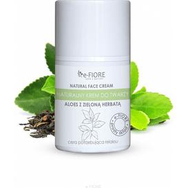 E-FIORE Naturalny krem do twarzy - Aloes z zieloną herbatą, 50 ml
