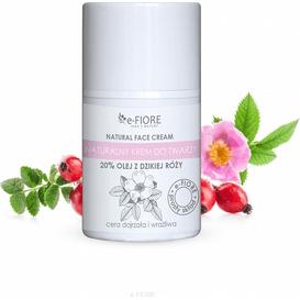 E-FIORE Naturalny krem do twarzy z dziką różą, 50 ml
