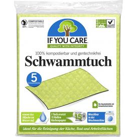 Produkty less waste Wielorazowe ścierki gąbczaste - kompostowalne, 5 szt.