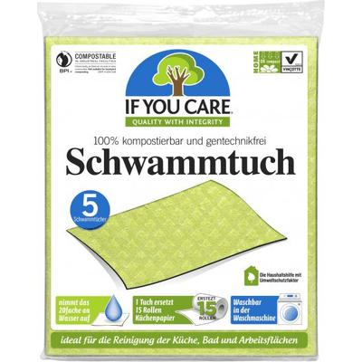 Wielorazowe ścierki gąbczaste - kompostowalne Produkty less waste