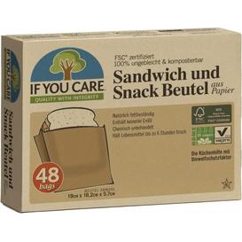Produkty less waste Torebki papierowe na kanapki i przekąski - kompostowalne