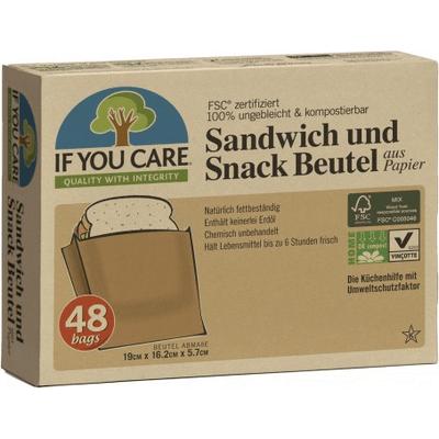 Torebki papierowe na kanapki i przekąski - kompostowalne Produkty less waste