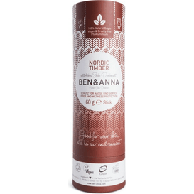 Produkty less waste Naturalny dezodorant na bazie sody - Nordic Timber, 60 g