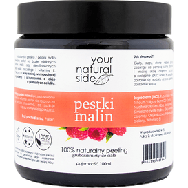 Your Natural Side Peeling z pestek malin gruboziarnisty, 100 g