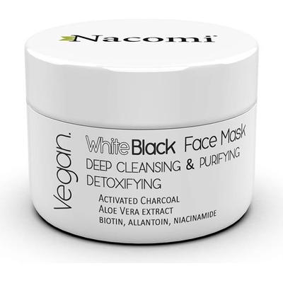 Detoksykująca maska biało-czarna z węglem aktywnym Nacomi