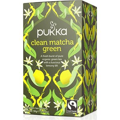 Herbata zielona - Matcha z cytryną - Clean Matcha Green Pukka