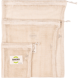 Sakwabag Zestaw wielorazowych woreczków do noszenia i przechowywania żywności - Mix