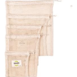Sakwabag Zestaw wielorazowych woreczków do noszenia i przechowywania żywności - Duży