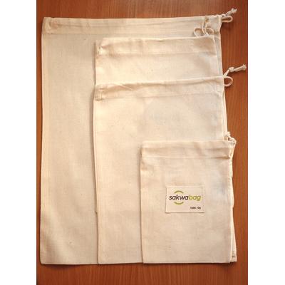 Zestaw wielorazowych woreczków na produkty sypkie Sakwabag