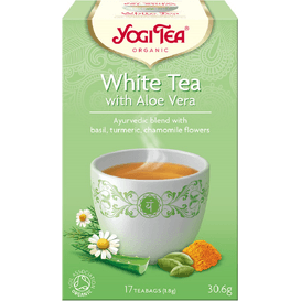 Yogi Tea Herbata biała z aloesem - White tea with aloe vera BIO, 17 szt.
