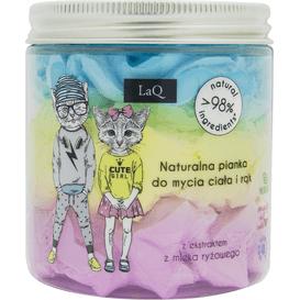LAQ Trójkolorowa pianka do mycia dla dzieci
