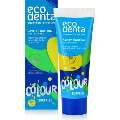 Kolorowa pasta dla dzieci zwalczająca próchnicę Ecodenta