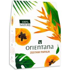 Orientana Zestaw do pielęgnacji twarzy - Papaja, 3 szt.