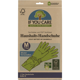 Produkty less waste Wielorazowe rękawiczki lateksowe, 1 para szt.
