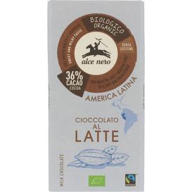 Alce Nero Czekolada mleczna Fair Trade BIO, 100 g