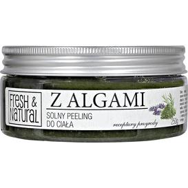 Fresh&Natural Solny peeling do ciała - Z algami