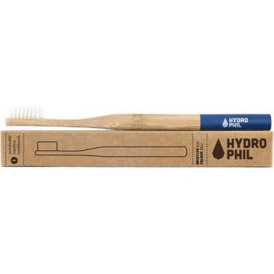 Naturalna bambusowa szczoteczka do zębów - włosie miękkie - niebieska Hydrophil