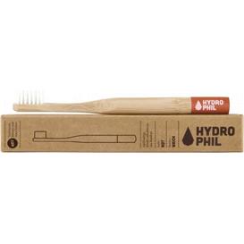 Hydrophil Naturalna bambusowa szczoteczka do zębów dla dzieci - czerwona
