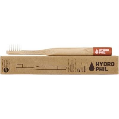 Naturalna bambusowa szczoteczka do zębów dla dzieci - czerwona Hydrophil