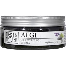 Fresh&Natural Cukrowy peeling do ciała - Z algami